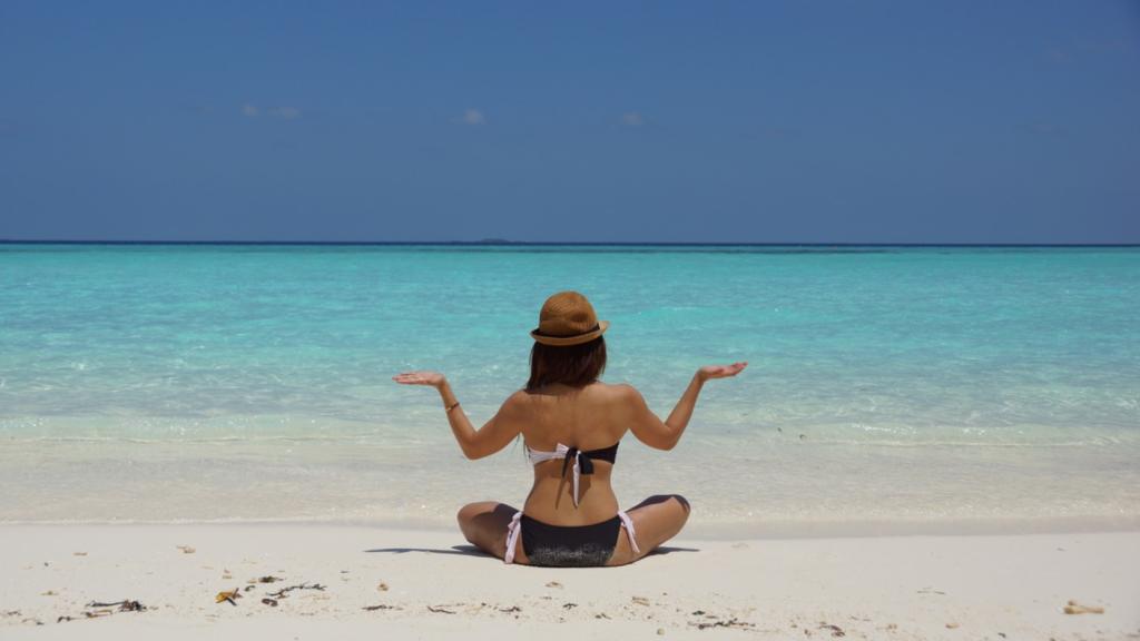 blogueuse zen à la plage
