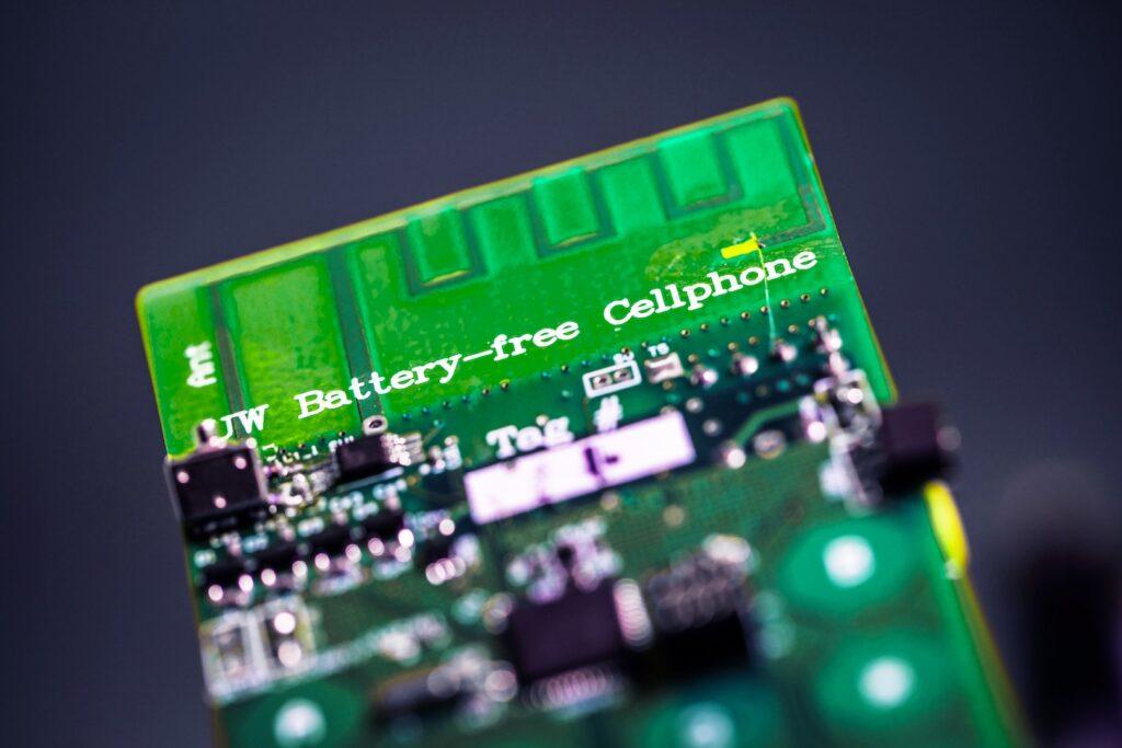 la version 1 du prototype de téléphone sans batterie