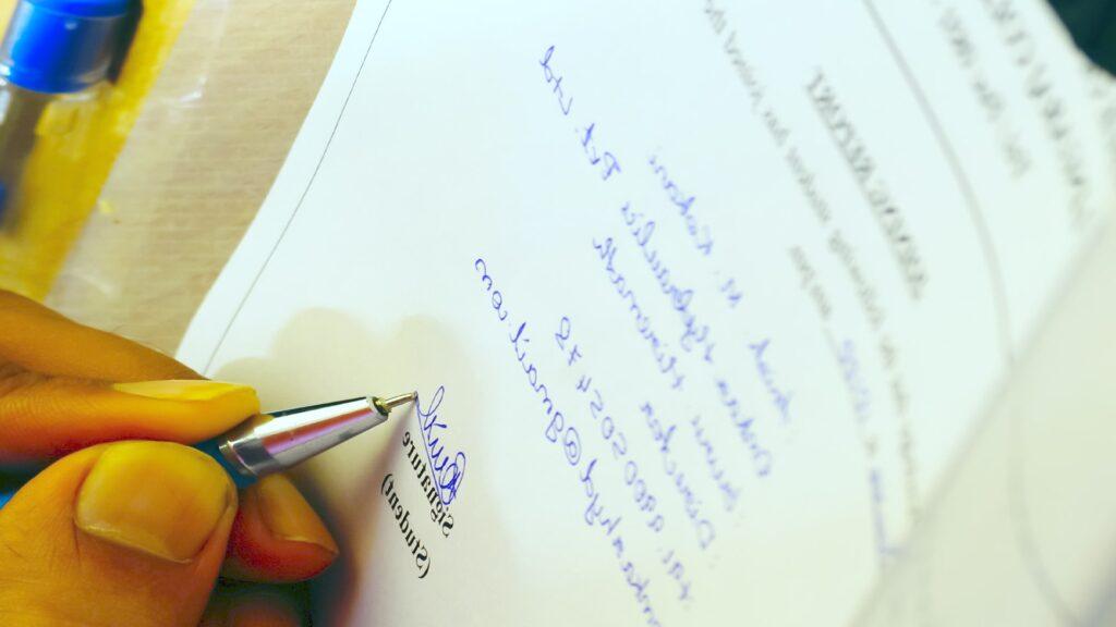 un document à signer