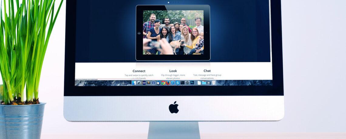 aller sur un site web avec un iMac